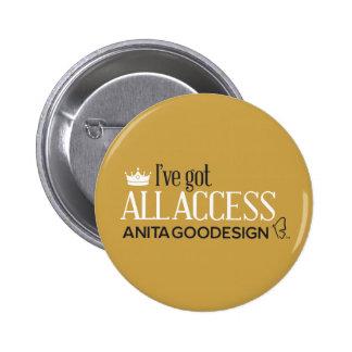 All Access Club Button (Gold)