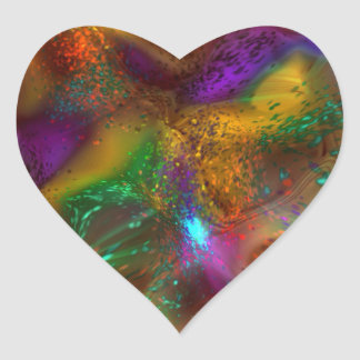 All Aglow Abstract Heart Sticker