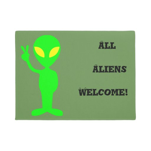 All Aliens Welcome Funny Doormat