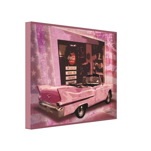 All American 50s Collage Canvas Prints
