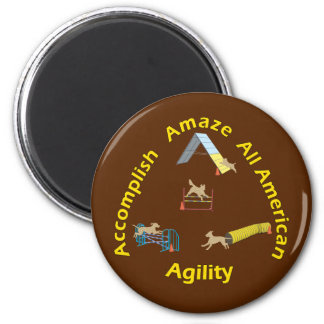 All American Agility 2 Inch Round Magnet