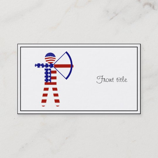 American psycho buisness card zazzle all american archer archery business card reheart Gallery