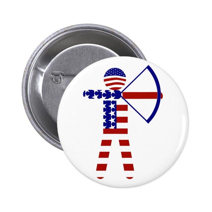 All-American Archer / Archery Pinback Button