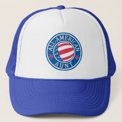 Trucker Hat with All-American Aunt design