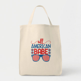All American Babe July 4th Tote Bag