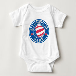 Baby Jersey Bodysuit with All-American Baby design