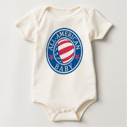 Infant Organic Creeper with All-American Baby design