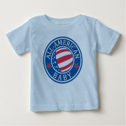 Baby Fine Jersey T-Shirt with All-American Baby design