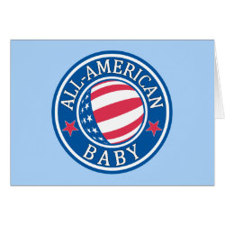 Greeting Card with All-American Baby design