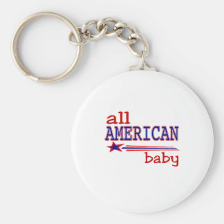 All American Baby Keychain
