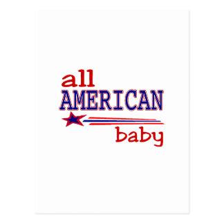 All American Baby Postcard
