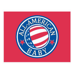 Postcard with All-American Baby design