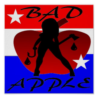 ALL AMERICAN BAD APPLE POSTER