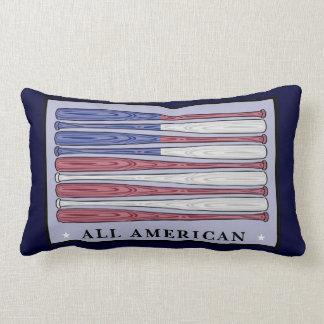 All American baseball bats flag decorative pillow