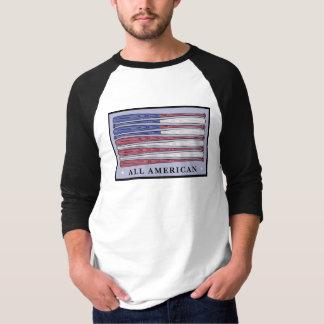 All American baseball bats flag guys shirt