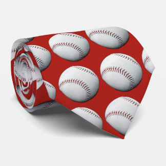 All American Baseball Patriotic Tie Red White Blue