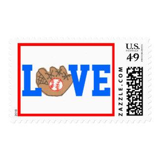 All American baseball stamp - LOVE