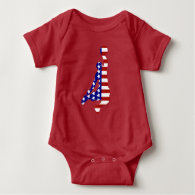 All-American Basketball Player Baby Bodysuit