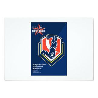 All American Basketball Retro Poster Custom Invitations