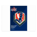 All American Basketball Retro Poster Postcard