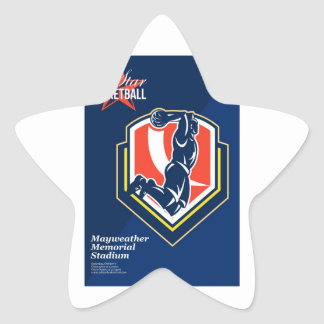 All American Basketball Retro Poster Stickers