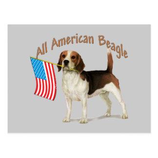 All American Beagle gifts Postcard