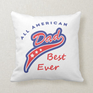 all american best dad ever col 2 throw pillows