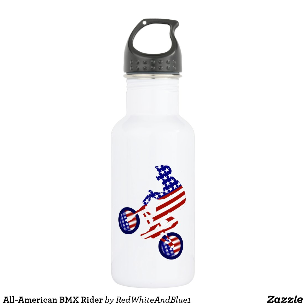 All-American BMX Rider Water Bottle