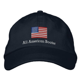 All American Boater Embroidered Baseball Hat