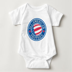 Baby Jersey Bodysuit with All-American Brother design