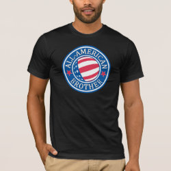 Men's Basic American Apparel T-Shirt with All-American Brother design