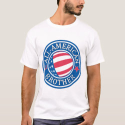 Men's Basic T-Shirt with All-American Brother design