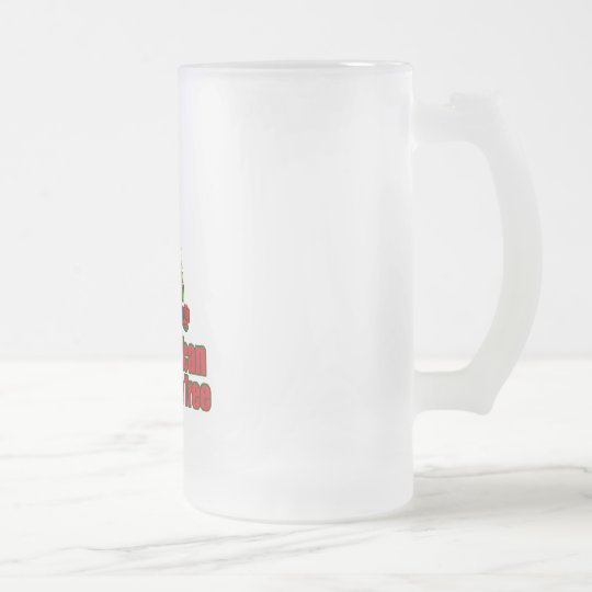 All American christmas tree with beer Frosted Glass Beer Mug