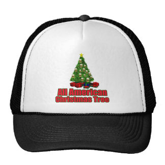 All American christmas tree with beer Trucker Hat