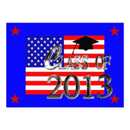 All American Class Of 2013 Graduation Invitations
