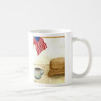 All American Coffee - cricketdiane folk art mug Basic White Mug