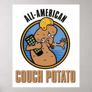 All-American Couch Potato Print