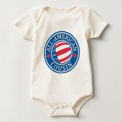 Infant Organic Creeper with All American Cousin design