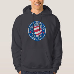 Men's Basic Hooded Sweatshirt with All American Cousin design