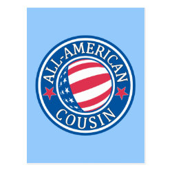 Postcard with All American Cousin design