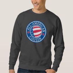 Men's Basic Sweatshirt with All American Cousin design