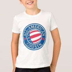Kids' American Apparel Fine Jersey T-Shirt with All American Cousin design