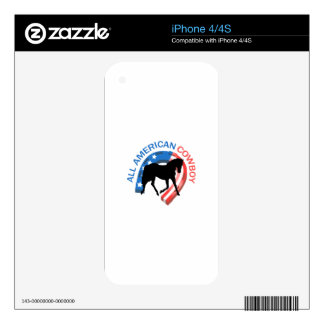 ALL AMERICAN COWBOY DECALS FOR THE iPhone 4S