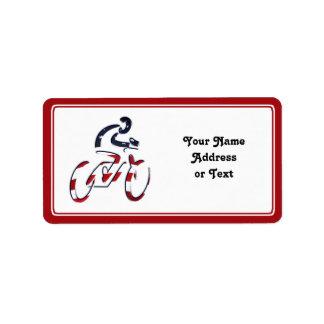 All-American Cyclist Label