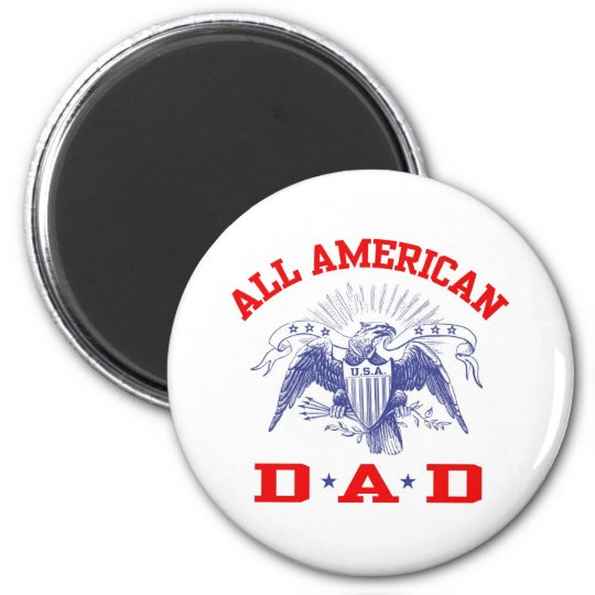 All American Dad 2 Inch Round Magnet