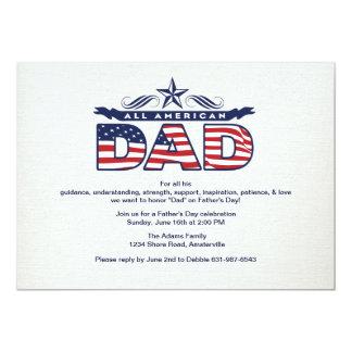 All American Dad Father's Day Invitation