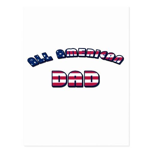 All American Dad Postcard