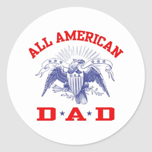 All American Dad Stickers