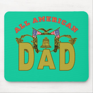 All American Dad with Vintage Design Mouse Pad