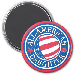 Round Magnet with All-American Daughter design